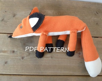PDF Fox plush Pattern The little prince friend Stuffed animal plushie softie fox 25cm (9,8inch) long without tail petit prince No Tutorial