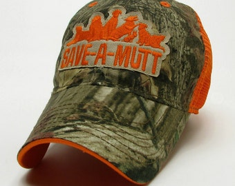 Trucker Baseball Hat - Real Tree and Orange Dog Rescue