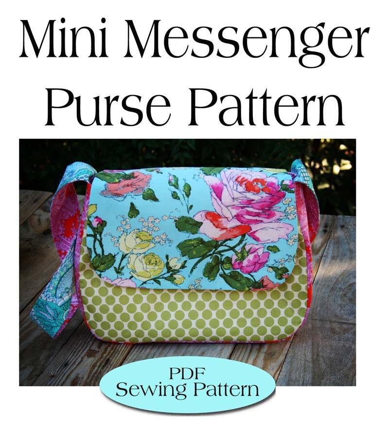 Mini Messenger Bag PatternPurse Pattern PDF Sewing Pattern