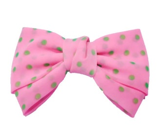 Hair bow - neon pink