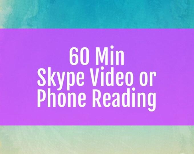 60 Minute Skype Video or Phone