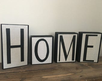 Home wooden blocks / Home decor / customizable