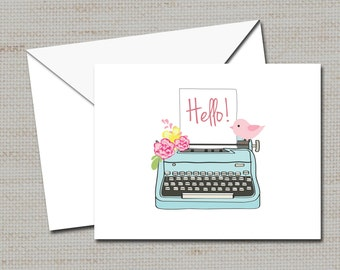 """Personalized Note cards, stationery, Mother's Day Gift,  PRINTABLE DIGITAL FILE 4"""" x5.5"""""""