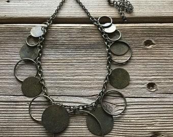 Circle Bib Necklace