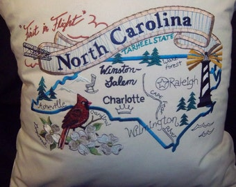 Embroidered Pillow - Spirit of NC State