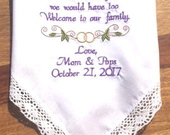 Daughter In-Law Wedding Gift for your New Daughter, Daughter in Law Shower Gift, Daughter in Love Gift, Wedding Gifts, Canyon Embroidery