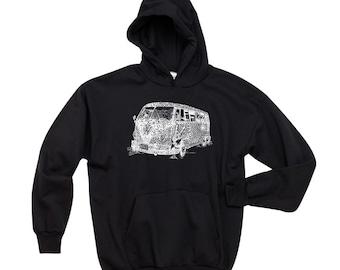 Men's Hooded Sweatshirt - The 70's