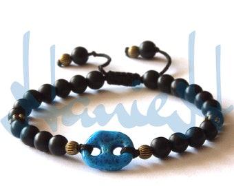 Black onyx bracelets for men and women