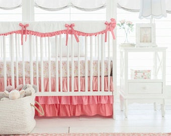 Coral Ombre Baby Bedding Set