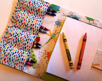 Crayon Holder - Kids Coloring - Travel Toy - Bugs - Coloring - Kids Crafts - Children's Gift - Party Favor