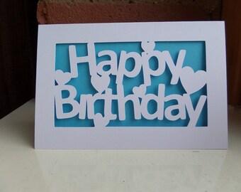 Happy Birthday Cut Out Card