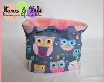 SNOOD - Choker OWL and pink reversible.
