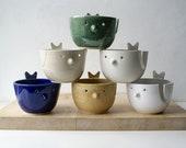 Choose your colour - The little wren bird pottery yarn bowl