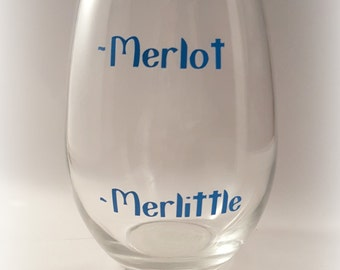 Funny Wine Glasses, Gift for Her, Gift for Mom, Wine Gift, Birthday Gift, Wine Lover Gift,Birthday for Her, Merlot, Merlittle
