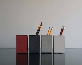 Concrete Cup, Pencil cup, Pencil Holder, Pen Holder, Pen pot, Paintbrushes holder, Toothbrush holder, Pen holder, Office decore