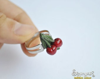 Cherry Ring - adjustable - Gifts for her