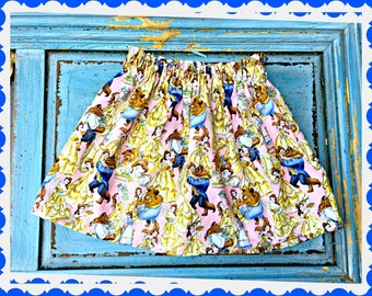 Beauty and the Beast Belle skirt 2T 3T 4T 5T 4/5 6/6X 7/8 10/12 14/16 ready to ship