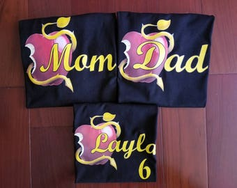Inspired by descendants mom and dad shirts, mother of the birthday girl, dad of the birthday girl