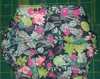 Cactus Flower diaper cover