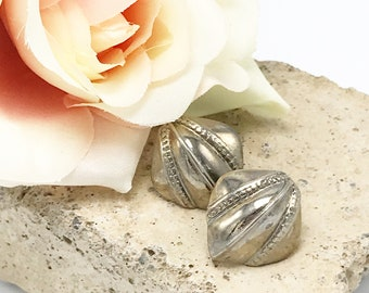 Vintage Earrings. Southwest Native Style with Detailed Stamped Designs. Tribal, Native American Style Stamped Silver Earrings