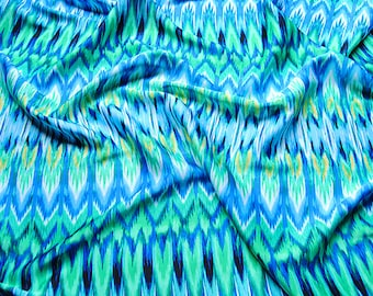 ocean weave blue and green chiffon fabric one yard for maxi dress diy