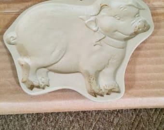 Pig Stoneware Cookie Mold by Brown Bag Cookie Art Vintage
