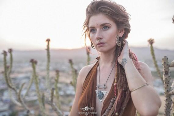 XL TRIBAL EARRINGS - Tribal Twist Earrings - Ethnic Earrings - Statement Jewellery - Vintage Earrings - Bohemian - Hippie - Ibiza - Brass