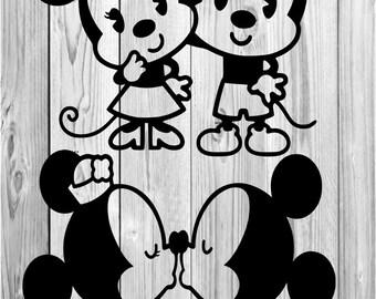 Mickey Mouse Set Vinyl Decal