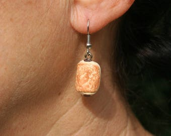 Earrings with chocolate bread