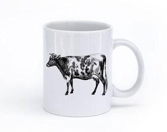 Farmhouse Coffee Mug - Farmhouse Mug - Cow Mug - Coffee Mug - Rustic Mug - Cow Coffee Mug - Farm Animal Coffee Mug