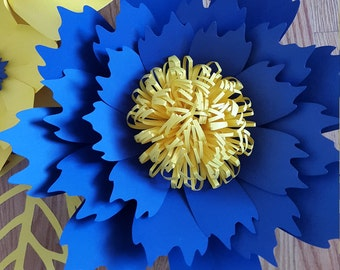 Paper flower template, paper flower pattern ONLY. DIY paper flower tutorial, Paper flower backdrop template