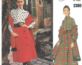 Vintage 1970s Vogue Couturier Design Pattern 2380- Simonetta of Italy Misses' Blouse, Skirt and Stole size 10 Uncut FF