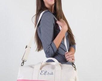 Womens Duffel Bag, Weekend Dufflel Bag, Monogram Duffle Bag, Bridesmaid Duffel Bag, Kids Weekend Bag, Custom Duffel Bags, Monogrammed Duffel