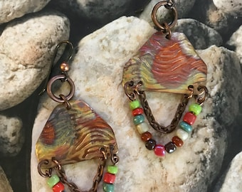 FROM YOUR TRIBE..earthy ..rustic .. textured..torched copper ..bohemian