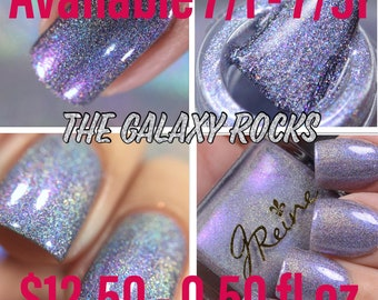 The Galaxy Rocks - April Polish Pickup Exclusive Ultra Linear Holo Multichrome Nail Polish