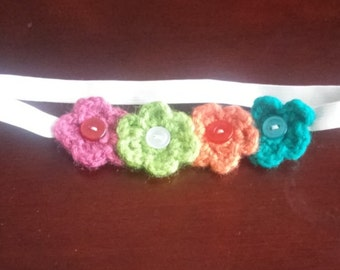 Multi-color flower headband