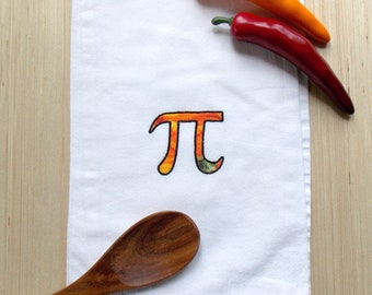 Pumpkin Pi Kitchen Tea Towel - Nerd Kitchen Decor - Math Geek Kitchen Decor - Pumpkin Pi Kitchen Decor - Thanksgiving Kitchen Decor - Pi Day