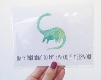 Herbivore Birthday Card