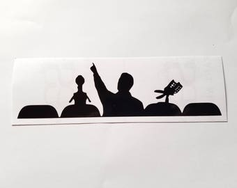Mystery Science Theater 3000 vinyl sticker
