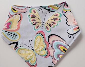 Baby Bandana Bib, Baby Girl Bandana Bib, Baby Girl, Butterfly Bib, Butterfly Baby Bib, Butterfly Bandana Bib, Baby Girl Gift under 10