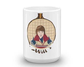 Waffles Don't Lie - Will, Geeky Mug, Fandom Mug, Eleven Mug, Gift for Geeks, Gift for Nerds, Waffle Mug