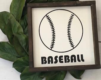 Baseball sign, boys room, farmhouse sign, sports