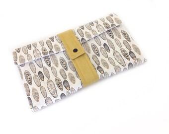 Nappy wallet, diaper clutch with built in waterproof wipeclean change mat,