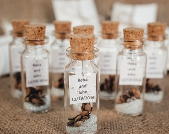 Rustic wedding rustic wedding favors for guests rustic wedding favors for guests rustic thank you gift personalized message in a bottle winter unique silver junglespirit Gallery