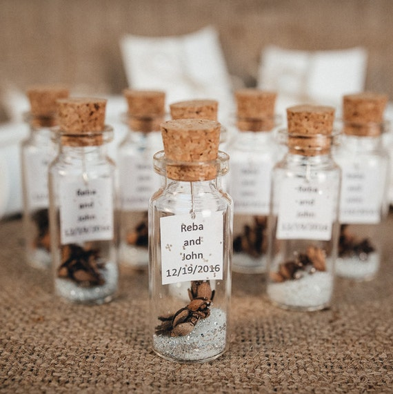 Wedding Favors For Guests Message In A Bottle Rustic Wedding