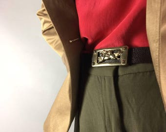 Brown belt 1970's Vintage belt Waist belt Wide belt Belts Womens belt Mens belt Boho belt Dress belt Fashion belt 70's belt Wide brown belt