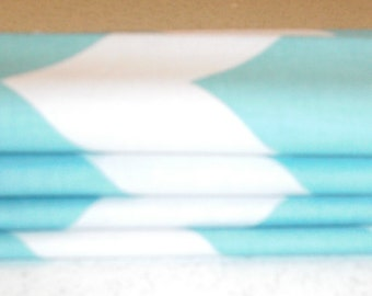 "18"" x 18"" Aqua Chevron Cocktail Napkins"