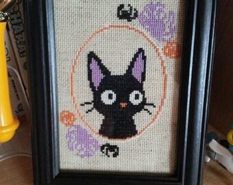 Halloween Jiji - Cross Stitch Pattern!