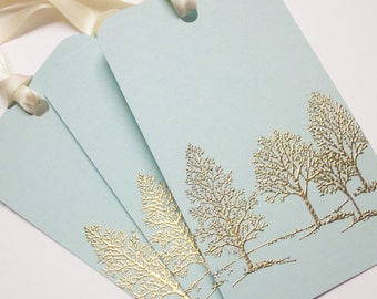 Tree Wedding Wish tree tags Gift Tags favor tags - Gold Embossed Luxury - set of 20