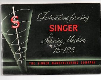 Singer Manual for Singer 15-125 Sewing Machine